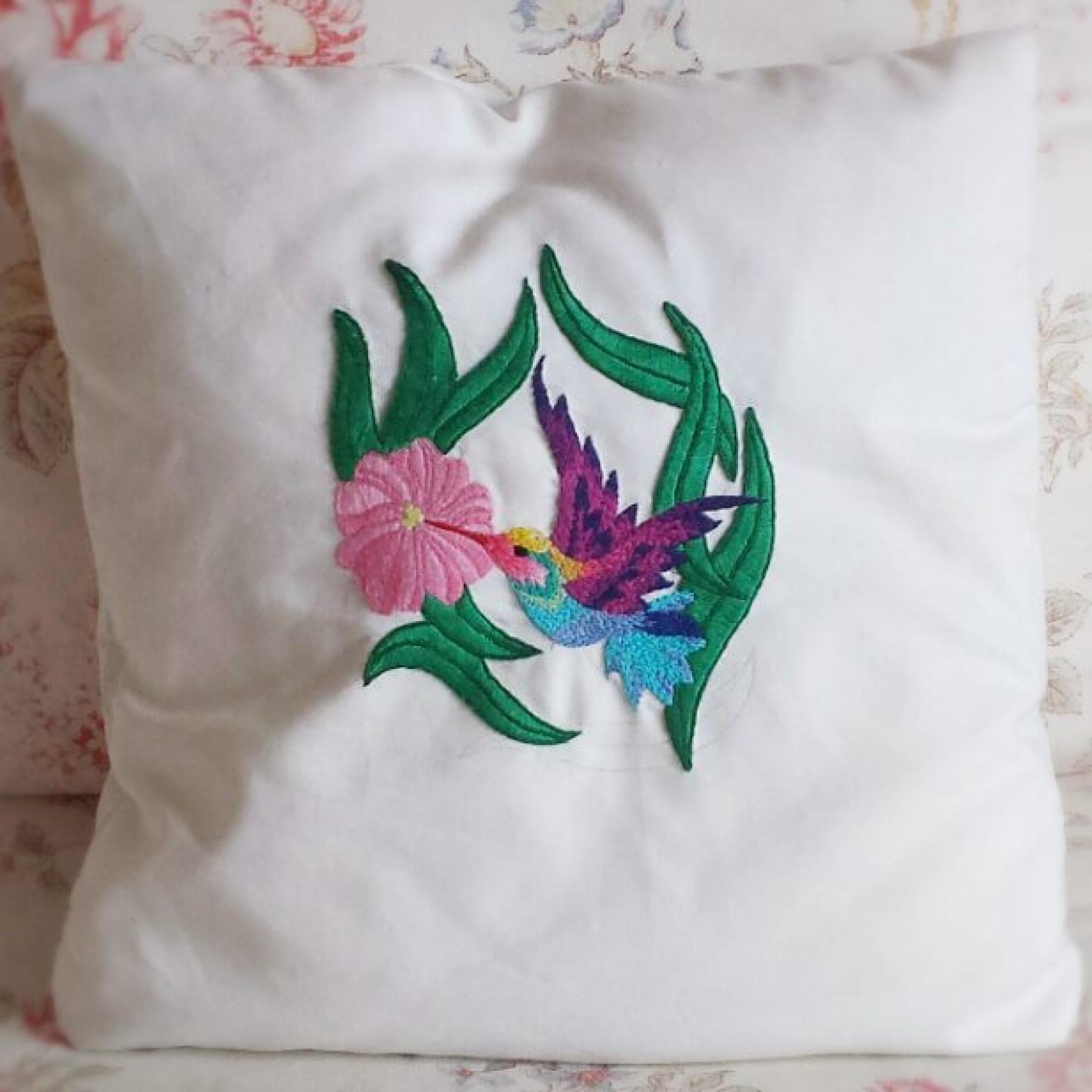 haftowany koliber poszewka na poduszkę