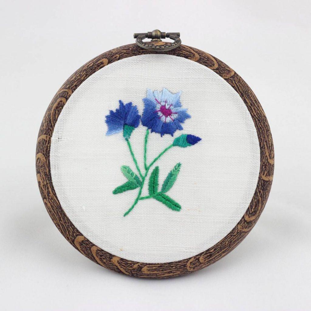 haftowany tamborek chabry