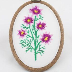 haftowany obrazek dzikie kwiaty