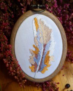 haftowane pióro natuarlne